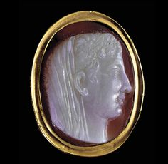 CE) Cameo of Veiled Julio-Claudian Roman Artifacts, Historical Artifacts, Ancient Rome, Ancient History, Ancient Jewelry, Antique Jewelry, Roman Jewelry, Cameo Jewelry, Ancient Civilizations