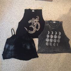 Lot of 3 Brandy Melville crop tanks 3 really cute tanks from Brandy Melville. All in good condition, only worn once or twice. One size fits all. Brandy Melville Tops Tank Tops