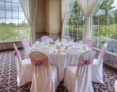The landscape sets the design for events at Avalon Manor Banquet Center, Merrillville, Indiana.