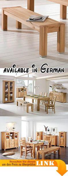 B076ZQ3LZY : Esstisch aus Holz mit Sitzbank aus Teak Holz.   Möbel ...