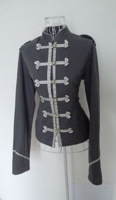 Vintage 1980s fitted Gothic Military Napoleon jacket Steampunk Russian Renaissance Victorian black frock coat 8 10. $59.00, via Etsy.