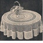 Image result for round crochet tablecloth free patterns