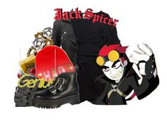 Jack Spicer from Xiaolin Showdown by magykgirlz on Polyvore featuring polyvore, fashion, style, Doublju, Eshvi, Poizen Industries, Dr. Martens and xiaolinshowdown