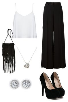 """""""Black and White Formal Parady"""" by kaylahca ❤ liked on Polyvore featuring Roberto Cavalli, Alice + Olivia, River Island and Rina Limor"""