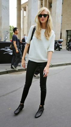 FASHION AND STYLE: White & Black