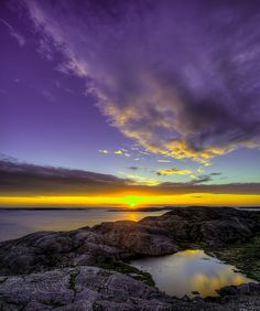 ~~Gundsund - Sunset ~ West Coast Sweden by Filip Nystedt~~