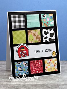 The best things in life are Pink.: Doodlebug's Down on the Farm - 40 cards from one 6x6 paper pad