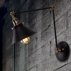 Vintage industrial style loft balcony aisle stairs corridor creative minimalist restaurant bar long arm wall lamp-in Wall Lamps from Lights & Lighting on Aliexpress.com | Alibaba Group
