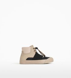 Image 4 of ELASTICATED HIGH-TOP SNEAKERS from Zara