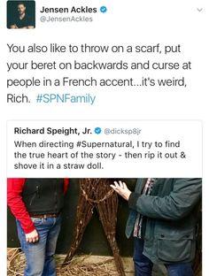 Jensen and Richard on Twitter