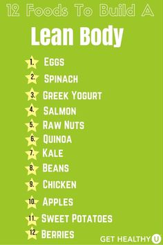 Check out our top 12 foods to build a lean healthy body! Click on the image to check out more tips for clean eating.