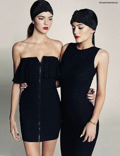 Hollywood and glamour / Kylie and Kendall Jenner for Marie Claire Mexico