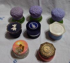 Vintage 8 Lot Avon Cream Sachet 50s 60s 70s Glass Jar Repurpose Reuse Craft DIY