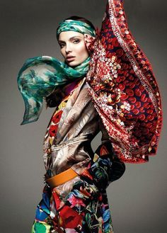 Greg Kadel for Vogue Deutsch   #eclectic #mixprint #fashion