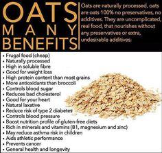 #oatsBenefits Calendula Benefits, Coffee Health Benefits, Dried Fruit, Farming, Oatmeal, Salt, Health And Wellness, Green, Food