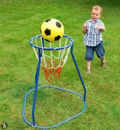 Voor de jonge basketballer in de dop! Games 4 Kids, Outdoor Activities For Toddlers, Kids Learning Activities, Diy Games, Outdoor Toys, Outdoor Play, Festival Games, Outdoor Education, Backyard Play