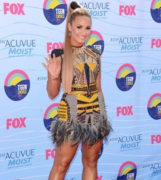 2012 Teen Choice Awards red carpet arrival pics: Demi Lovato at Gibson Amphitheatre on July 22, 2012 in Universal City, CA