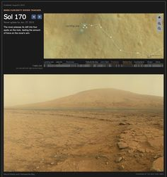 A selection of images from NASA's Curiosity rover as it drives toward Mount Sharp.