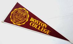 Vintage Boston College Felt Souvenir Pennant BC  by jujubeezcloset