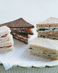 These sandwiches would be delicious at a bridal shower. Click to get the ingredients