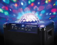 And an app-controlled Bluetooth speaker system with a built-in ✨party light✨ and microphone.