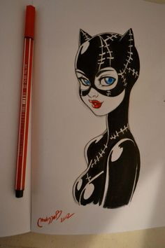 Catwoman by Melissa Ballesteros Parada She looks so cute, and almost a little bit Betty Boop..?