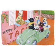 Taco Fun Labradors Painting