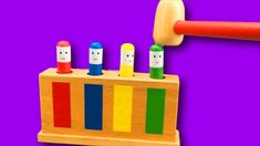 Learn Colors with Wooden Toys for Kids Children and Toddlers Egg Toys, Learning Colors, Wooden Toys, Kids Toys, Toddlers, Make It Yourself, Children, Childhood Toys, Kids