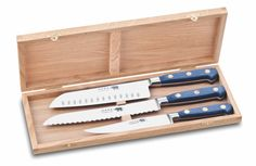 The world famous Sabatier knives, direct from Thiers,France! Their quality and strength is unquestionable!! Get them here...http://www.genuinesabatier.com