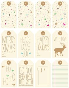 Hi Sugarplum!: Round-Up of Free Gift Tag Printables
