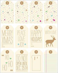Hi Sugarplum!: Round-Up of Free Gift Tag Printables