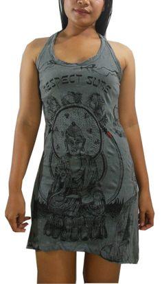 USA SHIPPINGWomen's Sure Buddha Yoga Long Tank Top Dress by NaLuck, $19.98