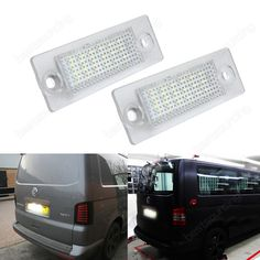 2x VW Transporter T5 Caddy Touran Multivan LED Licence Number Plate Light White(CA239)