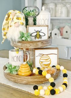 Excited to share this item from my shop: Bee signs / honey signs / bee decor / signs / summer signs / spring signs / tiered tray decor / rae Dunn decor / coffee bar / bee decor Handmade Home Decor, Diy Home Decor, Room Decor, Living Room Furniture Layout, Living Rooms, Spring Home Decor, Summer House Decor, Summer Mantle Decor, Fall Decor
