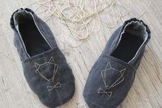 Mes pantoufles homemade et récup - un tresor dans mon placard #fox #diy #sewing