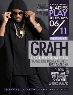 Ladies Play Thursday – Grafh Single Release Party @ Play Thursday June 11, 2015 « Bomb Parties – Club Events and Parties – NYC Nightlife Promotions