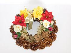 Christmas wreath Christmas Wreaths, Floral Wreath, Fall, Home Decor, Autumn, Floral Crown, Decoration Home, Fall Season, Room Decor