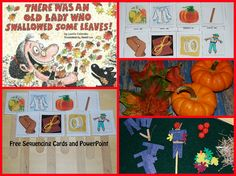 There Was An Old Lady Who Swallowed Some Leaves is a FUN book to explore in preschool! Sequencing Cards & PowerPoint are included to extend the book!
