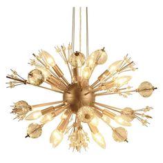Trendoffice: Sunny Yellow for Your Home Sputnik Chandelier, Pendant Lamp, Elegant Chandeliers, Large Chandeliers, Crystal Chandeliers, Crystal Uses, Clear Crystal, Suspension Cable