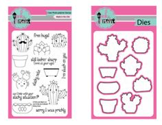 Pink and Main Sticky Note Stamp & Die BUNDLE Free Hugs, Stamp Sets, Sticky Notes, Your Cards, Maine, Card Making, Paper Crafts, The Incredibles, Make It Yourself