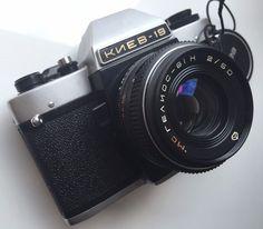 Kiev-19 MC Helios-81H 2/50 Leather Case Russian SLR Camera 35mm Arsenal EXC! #Kiev