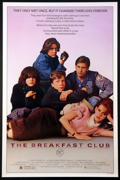 The Breakfast Club Movie Poster Reprint Iconic 80s Movies, Iconic Movie Posters, Movie Poster Art, Old Movies, Poster Wall, Classic Movies, Original Movie Posters, Old Film Posters, 70s Films