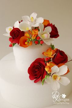 Summer Flower Arrangements, Wedding Flower Arrangements, Floral Arrangements, Sugar Flowers, Felt Flowers, Pretty Flowers, Cake Flowers, Fondant Flowers, Fall Wedding Cakes