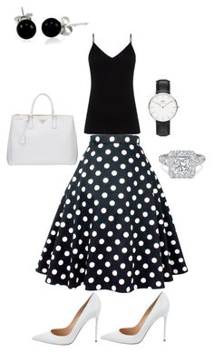 """""""Holy girlz"""" by yvettestarr on Polyvore featuring Diane Von Furstenberg, Gianvito Rossi, Prada, Bling Jewelry and Daniel Wellington"""
