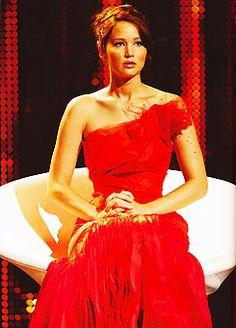 Katniss Everdeen, girl on fire.