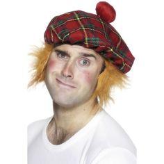 Adults Red /& Gold Trim Xmas Tartan Backless Waistcoat Scottish Fancy Dress