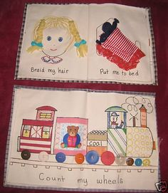 Quiet Books Cloth Activity Busy book Children's Educational Handmade Quiet Books 1561564133 | eBay