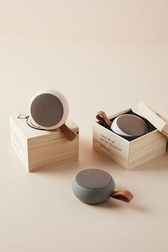 aGo Pocket Bluetooth Speaker by Kreafunk in Grey Size: All, Wellness at Anthropologie Loudest Portable Speakers, Diy Speakers, Bookshelf Speakers, Bluetooth Speakers, Speaker Box Design, Waterproof Speaker, Diy Design, Design Ideas, Industrial Design