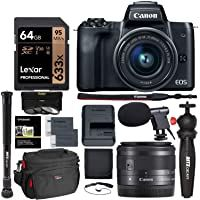 Canon Eos M50 15 45mm F 3 5 6 3 Is Stm Mirrorless Digital Camera Bundle Canon 2680c011 Includes 64gb Digital Camera Mirrorless Camera Photography Video Memory
