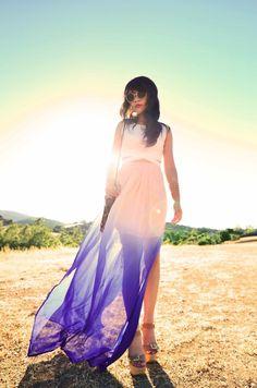 Trend Alert:  Ombre Maxi-Skirts